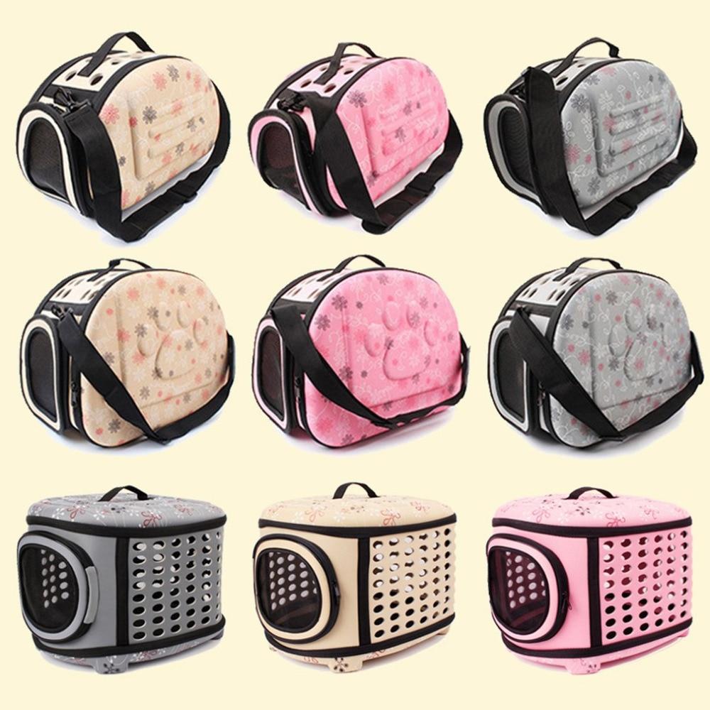 Pet-Carrier Handbag Cage Crate Carrying-Bags Sac-De-Transport Cat Folding Dogs Plastic