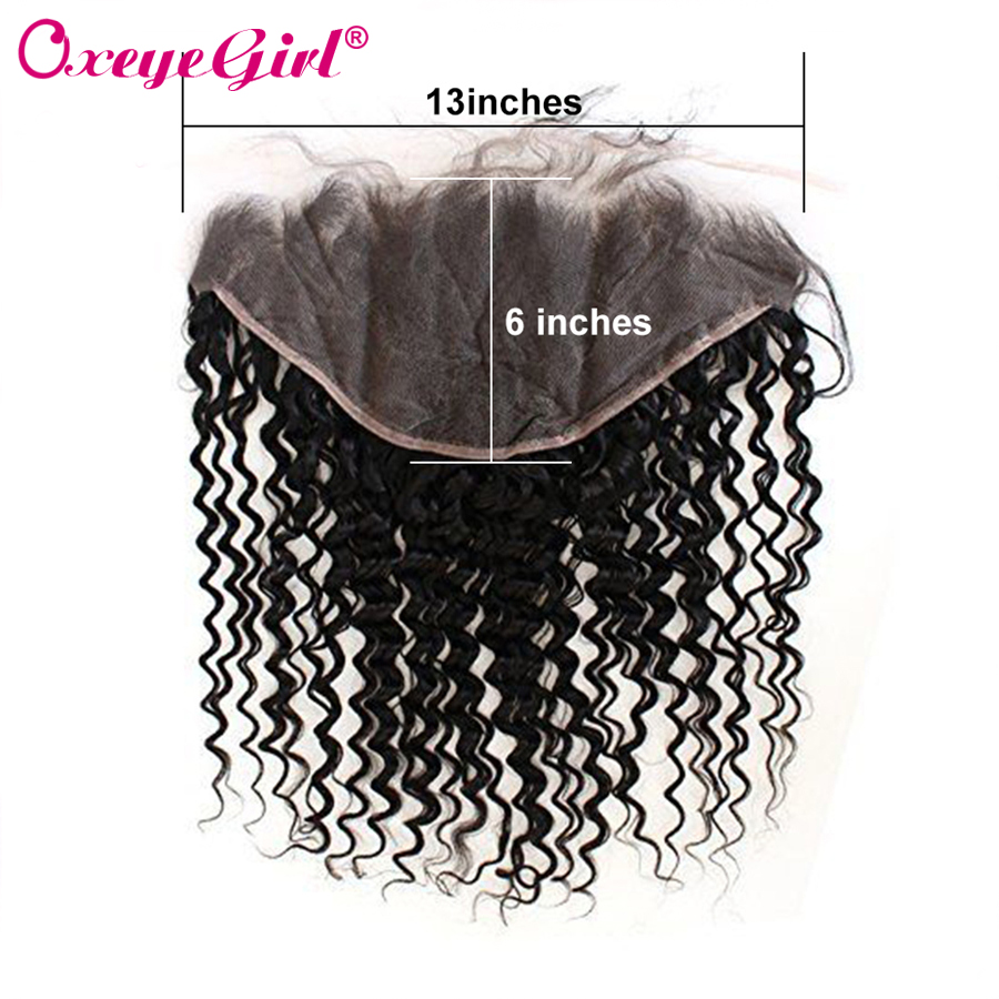 13x6 Ear to Ear Lace Frontal Closure With Baby Hair Lace Front Brazilian Kinky Curly Hair