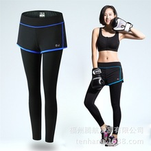 New Women Sports Yoga Pants Low Waist Sexy Compression Tights Fitness Girls Running Trousers Gym Dry Quick Leggings Skirt Style