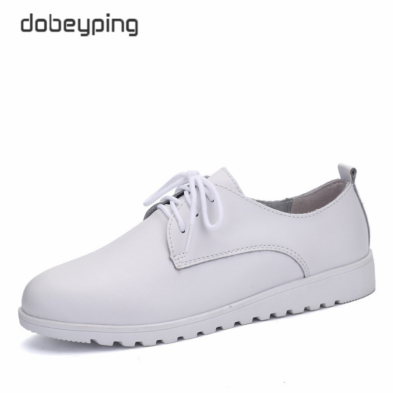 Soft Genuine Leather Women's Casual Shoes Lace-Up Woman Loafers New Female Flats Solid Low Heel Lady Shoe Women Driving Footwear