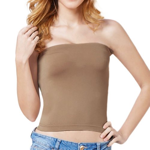 9f9de3c618 Raylans Charm Basic Layering Stretch Plain Strapless Tube Top Seamless  Sleeveless Tee-in Tube Tops from Underwear   Sleepwears on Aliexpress.com