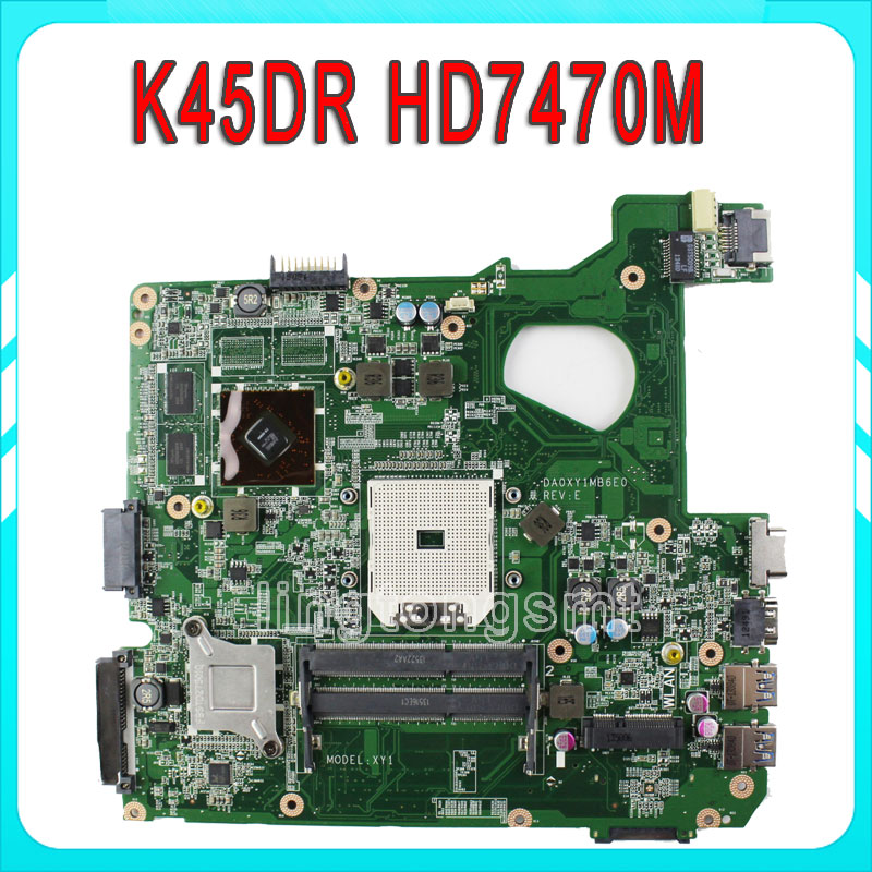 for ASUS A45D A45DR K45D K45DR R400D R400DR motherboard HD 7470M 1 GB 216-0809000 fully tested & working perfect