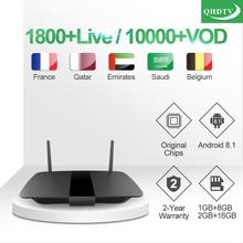 IP TV France Leadcool Q1504 Box 1 year QHDTV Arabic France IPTV Code TV Box Android 8.1 Belgium Qatar Morocco IPTV Subscription недорого