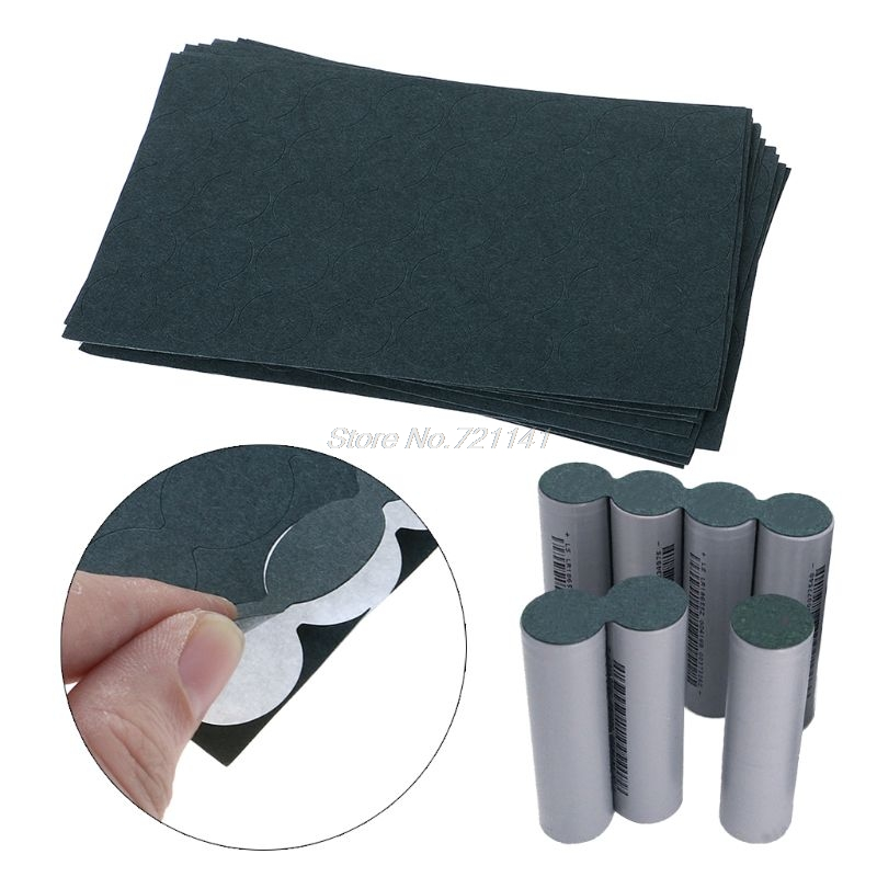 100Pcs 18650 Battery Insulation Gasket Barley Paper Battery Pack Cell Insulating Glue Patch Positive Electrode Insulated Pad