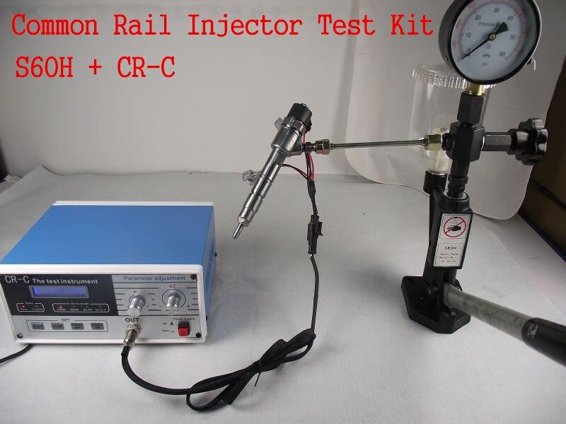Комбинации! CR-C Многофункциональный дизель common rail тестер + S60H сопла валидатор, common rail тестер инструмент