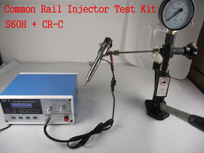 Combinaison! CR-C multifonction injecteur diesel commun rail testeur + S60H Buse Validateur, injecteur à rampe commune testeur outil
