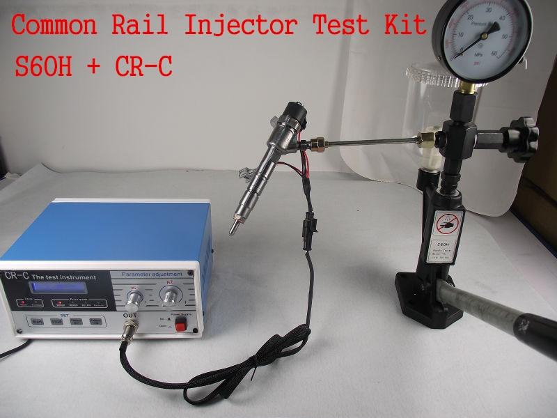 Combinazione! CR-C multifunzione diesel common rail iniettori tester + S60H Ugello Validatore, Iniettori Common rail tester strumentoCombinazione! CR-C multifunzione diesel common rail iniettori tester + S60H Ugello Validatore, Iniettori Common rail tester strumento