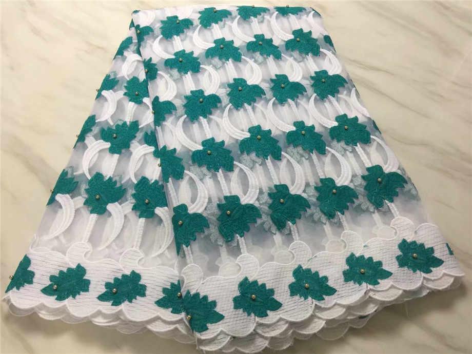 5 ярдов/партия оптовая продажа дизайн бусины водорастворимые кружево для Вышивание Последние Высокое качество Африканский гипюр молочного шелка