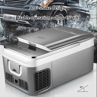 18L автомобильный холодильник морозильник автомобильный холодильник Компрессор для дома автомобиля пикника Холодильный морозильник 20 ~ 10 г