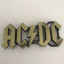 Розничная новые высококачественные бронзовые ACDC рок музыки металлическая пряжка для Модные мужские и женские джинсы аксессуары подходят 4 см широкий пояс