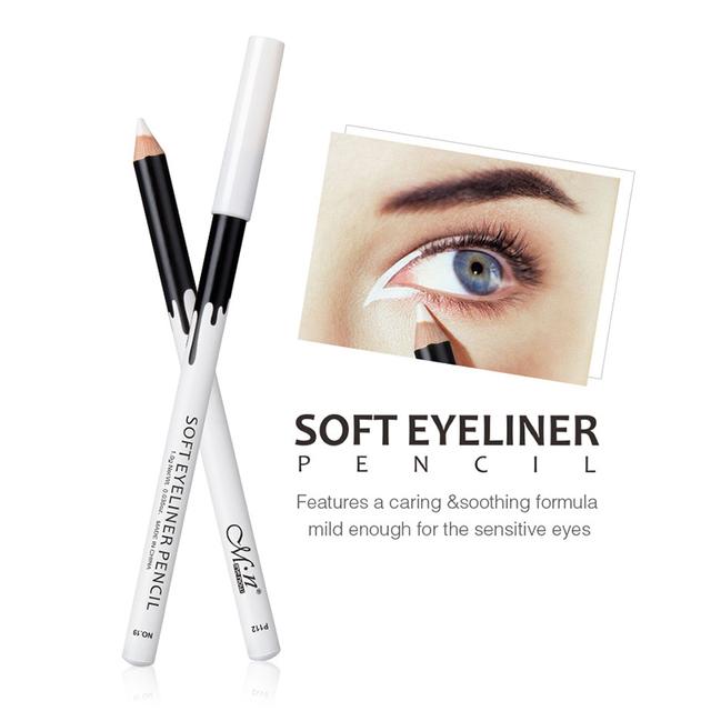 New White Eyeliner Makeup Smooth Easy Wear Eyes Brightener Waterproof White Eyes Liner Pencils