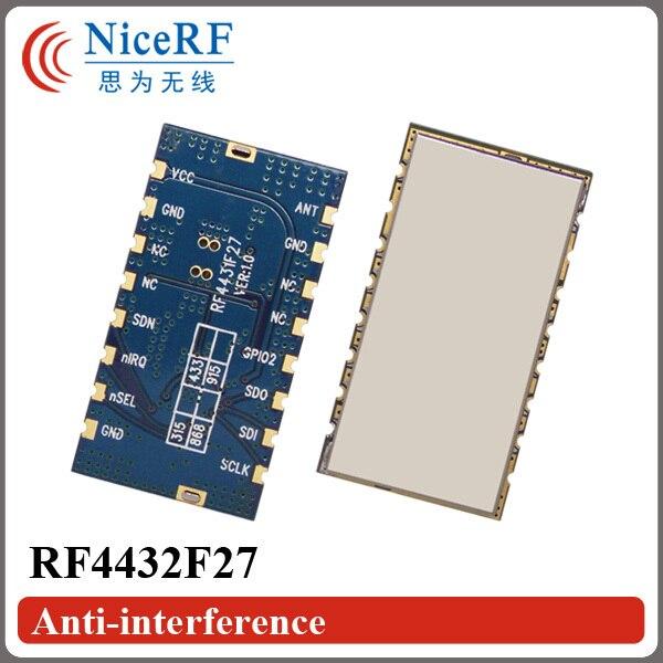 2pcs/lot 470MHz 500mW 3km Long rang embedded anti-interference Wireless Audio TX/RX Modules RF4432F27
