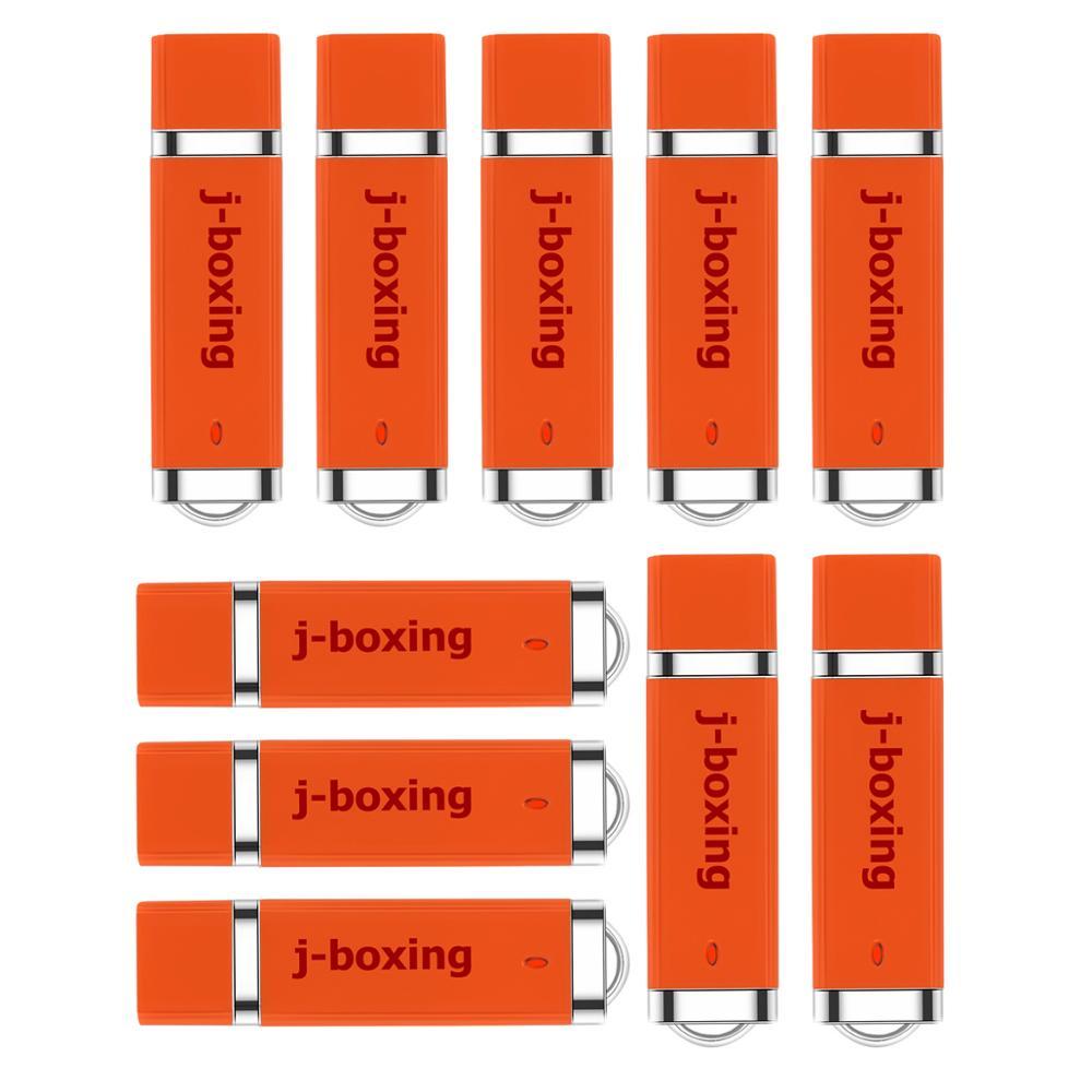 J-boxing 10PCS 1GB USB Flash Drives Bulk 2GB 4GB 8GB 16GB 32GB Lighter Design Thumb Jump Drive Pen Orange