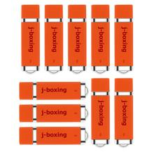 J-boxing 10PCS 1GB USB Flash Drives Bulk 2GB 4GB 8GB 16GB 32GB Lighter Design Thumb Drives Jump Drive Pen Drive Orange цена 2017