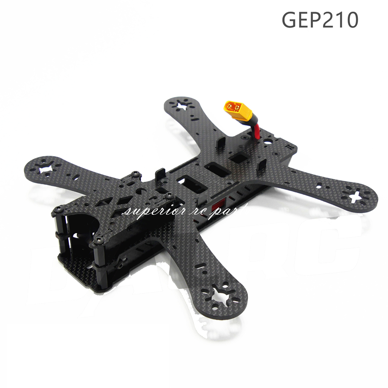 GEPRC GEP210 210mm 4-Axis Carbon Fiber Quadcopter Frame Lens Adjustable Mount for FPV geprc gep zx4 gep zx5 gep zx6 170mm 190mm 225mm 4 axis 3k carbon fiber frame kit with 12v 5v pdb board for rc multicopter