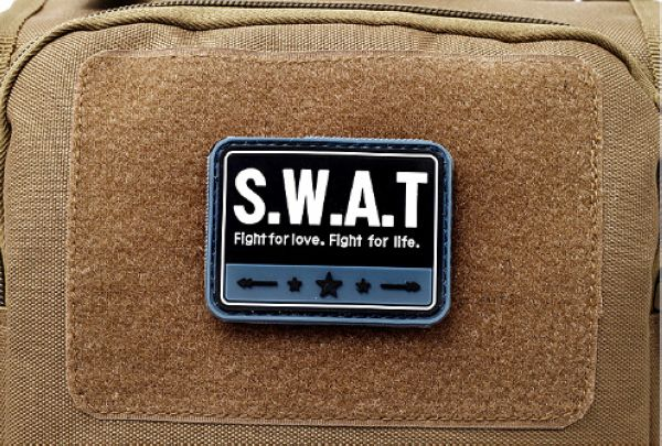 US $2 3 8% OFF|SWAT Patch PVC Rubber 3D Tactical Hook And Loop Emblem  Military Badge Combat Army Armband-in Patches from Home & Garden on