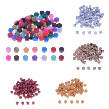 100Pcs/Lot Octagon Sealing Wax Beads Stamping Wax Seal Stamps for Envelope Documents Christmas Wedding Invitation Decorative 1