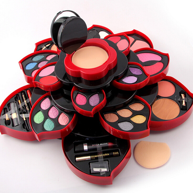 Newest Professional 46 Full Colors Make Up Kit Blush Eyeliner Lipstick Collection MakeUp Palette 3D Collection For Gift 2 Option