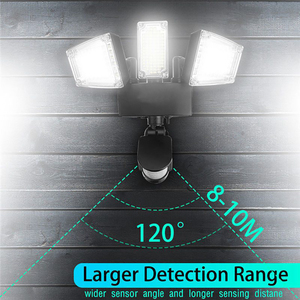 Image 5 - Mpow 178 LED الشمسية الجدار الخفيفة 3 رؤساء الشمسية مستشعر حركة مضاد للماء ضوء السوبر مشرق حديقة الأمن في الهواء الطلق LED كشاف ضوء