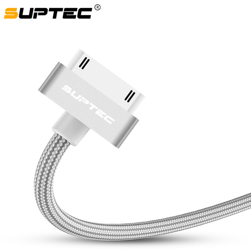 SUPTEC USB Cable for iPhone <font><b>4</b></font> s 4s 3GS iPad <font><b>2</b></font> 3 iPod Nano touch Fast Charging 30 <font><b>Pin</b></font> Original Charge adapter Charger Data Cable image
