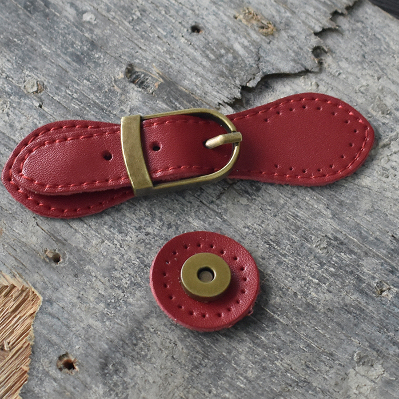 Bag Magnetic Buttons Genuine Leather Bronze Hasp Buckle for Women Handmade DIY Crossbody Handbag Fastener Accessories KZ1205 in Bag Parts Accessories from Luggage Bags