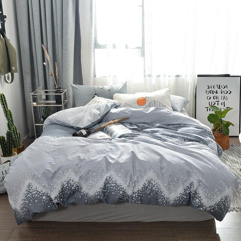 White spots print Simple style bedding set cotton fabric 3/4pcs Twin Queen Size duvet cover flat sheet pillowcase White spots print Simple style bedding set cotton fabric 3/4pcs Twin Queen Size duvet cover flat sheet pillowcase