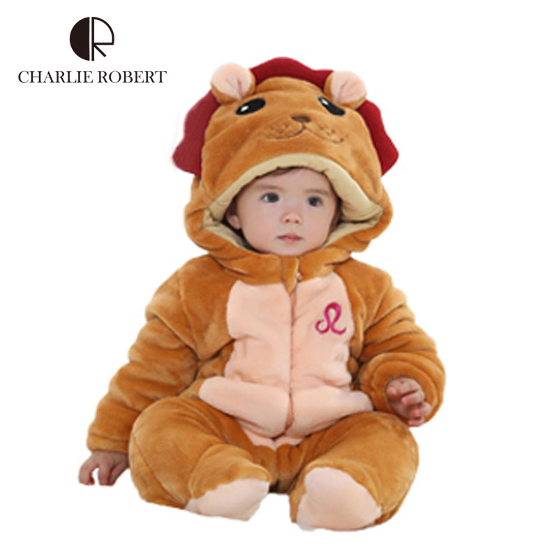 12 Constellation High quality Newborn Infant baby clothing boy girl costume Cartoon Animals bodysuit flannel baby clothes HK478 newborn baby boy girl 5 pcs clothing set cotton cartoon monk tops pants bib hats infant clothes 0 3 months hight quality