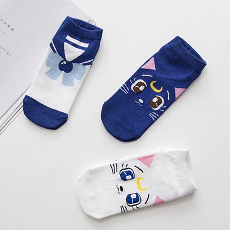 2018 New Fashion Girls Womens Cotton Socks Anime Sailor Moon  Ankle Casual Dress Socks