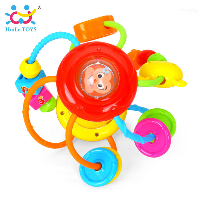 HUILE-TOYS-Baby-Toys-Ball-929-Baby-Rattles-Educational-Toys-for-Babies-Grasping-Ball-Puzzle-Multifunction-Bell-Ball-0-18-Months-4