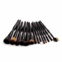 2018 Black 14pcs Professional Body Curve Makeup Brushes Set Blush Blending Foundation Powder Eyeliner Kits Facial