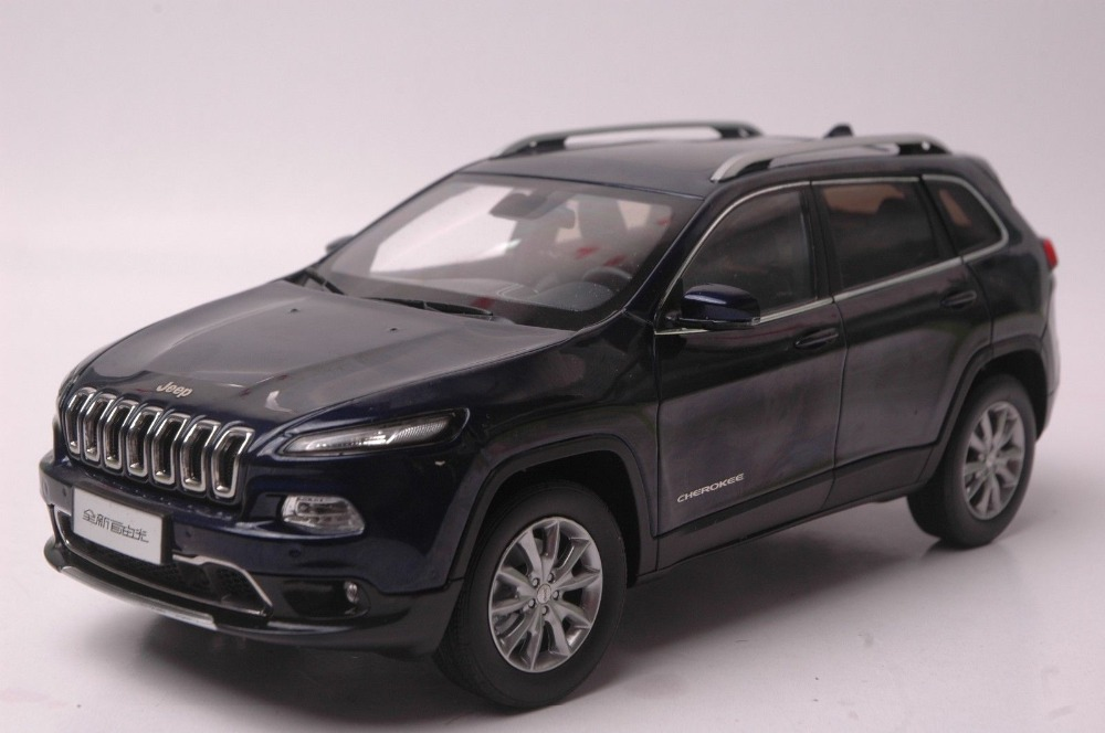 1:18 Diecast Model for Jeep Cherokee 2016 Blue SUV Alloy Toy Car Collection Gifts maisto bburago 1 18 fiat 500l retro classic car diecast model car toy new in box free shipping 12035