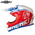 NENKI Motocross Off-Road Full Face Helmet Fiberglass Shell Motorcycle ATV Dirt Bike MX Helmet with Removable Visor for Men Women