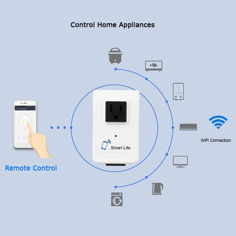 Wifi Smart Pop Socket Smart Wifi Plug Schedule Function Remote