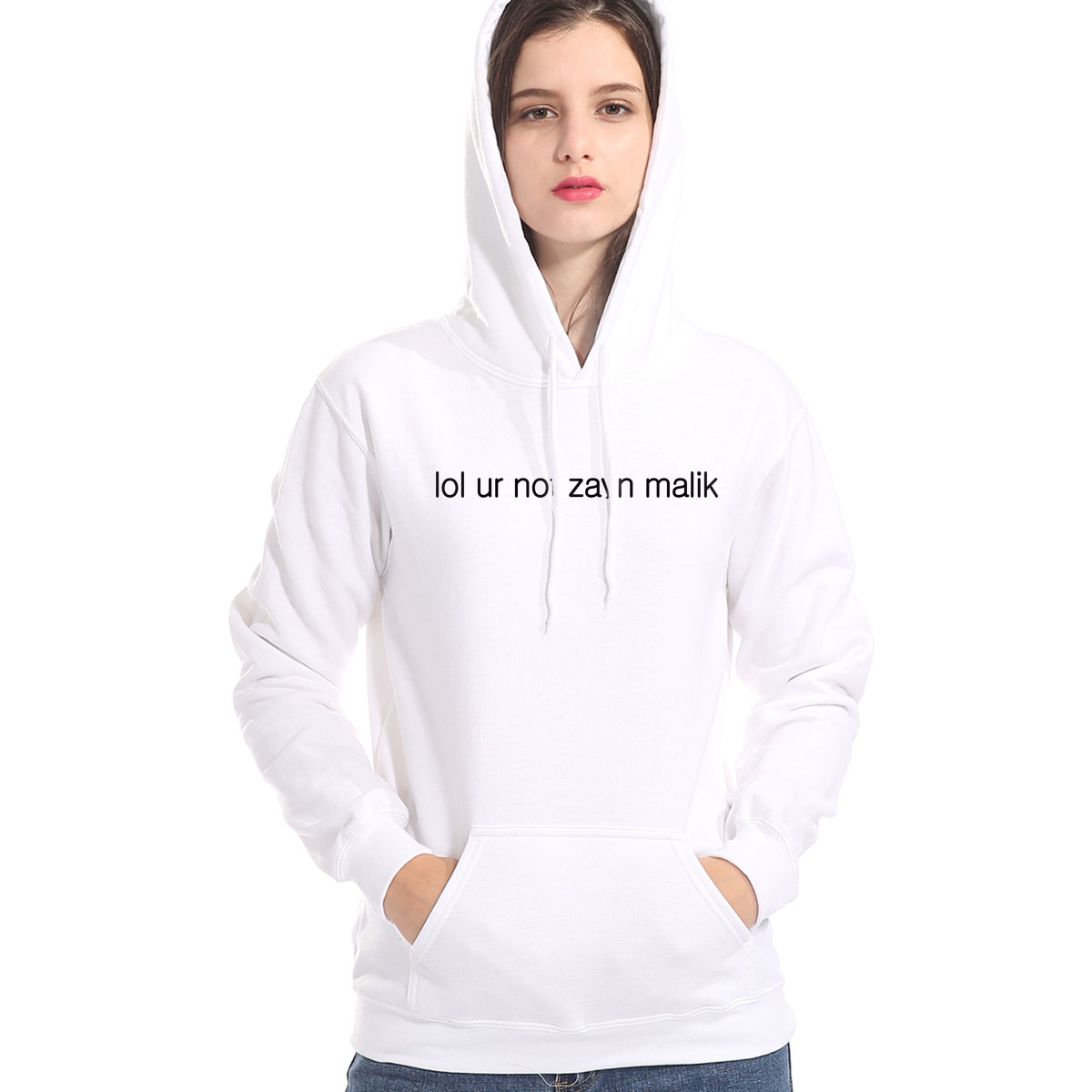 Kawaii Casual Hoodies For Women LOL UR NOT ZAYN MALIK Letter Print Female Sportwear Suit Hoody Harajuku Hot Women's Pullover Top