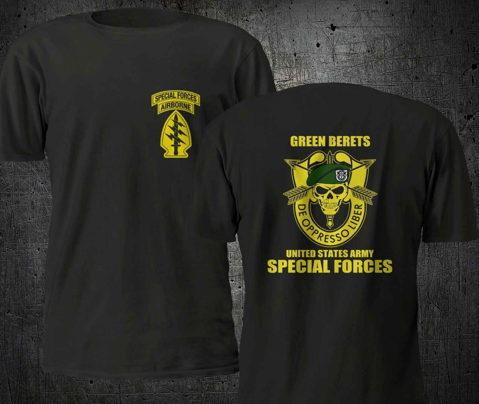 Группа спецназа AIRBORNE Военная футболка S-4XL