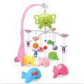 Baby Crib Musical Mobile Cot Bell with 12 Music Melody Holder Arm Baby Bed Hanging Rattle Toys Newborn Gift Learning& Education