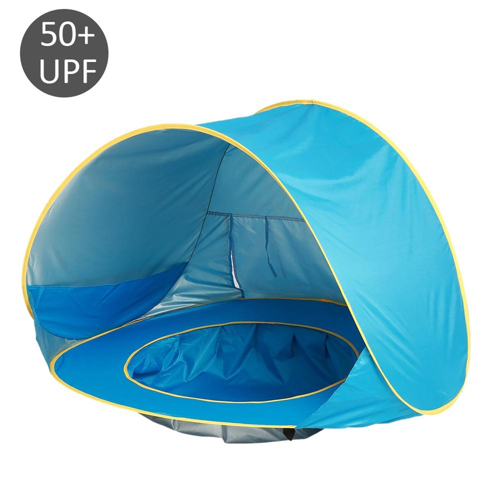 Baby tent uv-protecting blue sun shelter with a pool waterproof pop up awning tent kid outdoor camping sunshade for children