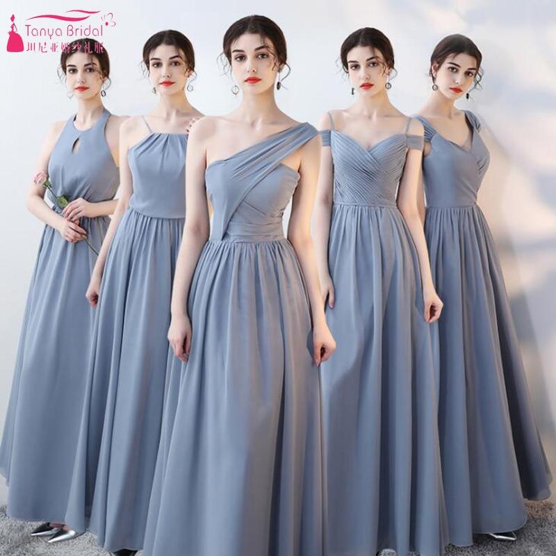 Chiffon Bridesmaid Dresses 5 Style Elegant Long Wedding Guest Dress ...
