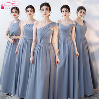 Chiffon Bridesmaid Dresses 5 Style Elegant Long Wedding Guest Dress Two Color Maid Of Honor Gowns ZB042