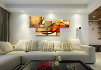 100 Hand Abstract Landscape HOME DECOR Oil Painting On Canvas 3pcs Set Framed Made PICTUR Color