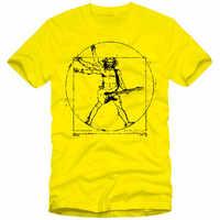 Da Vinci Guitarra Música Rock T-Shirt dos homens Camisas Engraçadas de T Pesado de Algodão Em Torno Do Pescoço Tops Camiseta Homme EUA TAMANHO