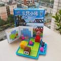 Regalo del bebé de juguete de plástico colorido Tres Cerditos rompecabezas inteligencia juego 1 Unidades