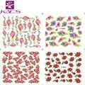 Sistema de desarrollo de CONOCIMIENTOS M40-43 2016 Auge Rosas y Rosas Rojas Flores de diseño Para El arte del clavo etiqueta Engomada Del Clavo de Transferencia de Agua de Colores