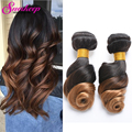 8A Ombre Brazilian Hair 3Pcs Lot Brazilian Loose Wave Hair Ombre Human Hair Weave #1B/27 Wet And Wavy Brazilian Virgin Hair