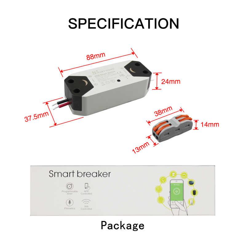 DIY WiFi Smart Light Switch Universal Breaker Timer Wireless Remote Control Works with Alexa Google Home Smart Home 1 Piece