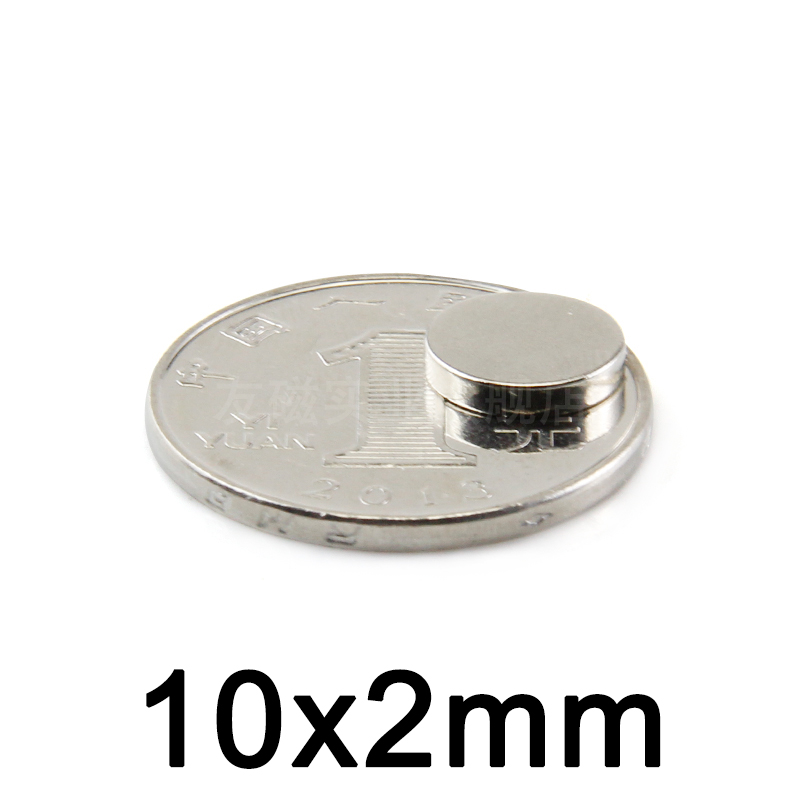50/100/200pcs Multifunction 10*2mm Neodymium Magnet Permanent N35 NdFeB Super Strong Powerful Magnetic Magnets Disc 10mmx2mm image