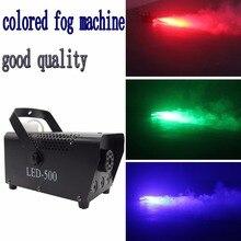 mini 400W RGB Wireless remote control fog machine pump dj disco smoke machine for party wedding Christmas stage fogger machine