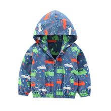 6eb7f279ffa9 Baby Boys Coats Jackets Autumn Kids Clothes Car Print Children Clothes  Hooded Outerwear 1-6 Y high quality