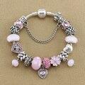 Annapaer Vintage bijoux femme Heart charm bracelets & bangles for women gifts Diy bracelet pulseira B17018