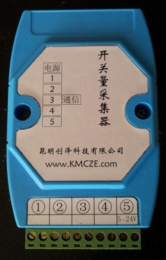 Carte d'acquisition de données série à 5 commutateurs carte d'acquisition de données USB minière 524 V